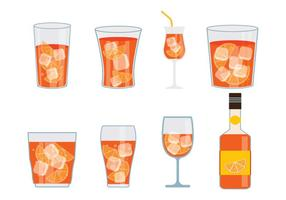 Spritz vector iconen set