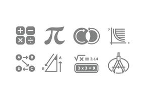 Grey Mathematic Symbol Vectors