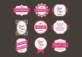 Freie Hochzeit Rahmen Vektor