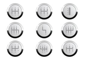 Gearbox Button Vector