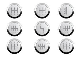 Vector botón de caja de cambios