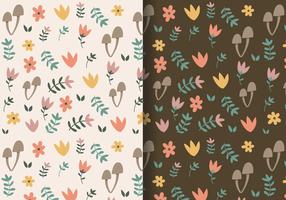 Patrón floral libre otoño