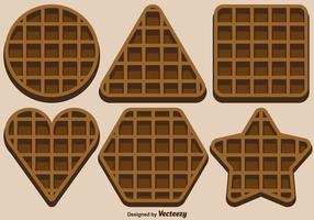 Vector Set Of Belgium Waffles