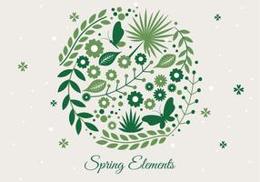 Gratis Spring Season Decoration Vector Achtergrond