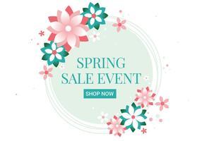 Free Spring Season Sale-Vektor Hintergrund