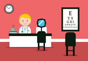 Eye Doctor Clinic Vector Illustration
