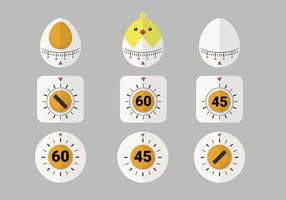 Söt Egg Timer Vector Post Pack