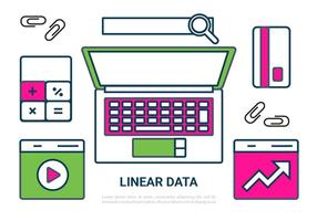 Freie Linear Digital Data Vector Elements