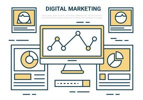Free Digital Marketing vektorelement