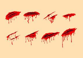 Bloody Scratch Marks Free Vectors