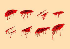 Rascar sangrienta Marks Vectores gratis