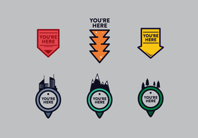 Gratis You Are Here Vector