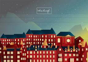 Edinburgh Old Town Vector Art