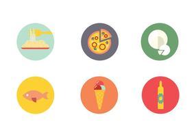 Napoli alimentos bebidas vector del icono