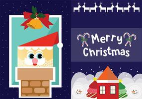 Dos Tarjetas de Navidad Vectores