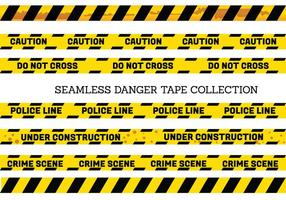 Sin fisuras vector Conjunto de peligro, así como cintas de precaución