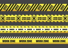Yellow Warning Tape Vectors