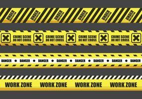 Gele waarschuwing Tape Vectors