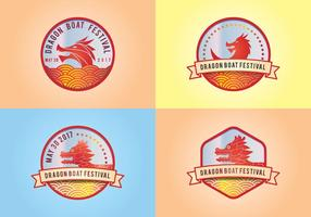 Dragon Boat Festival Elements Logo