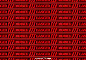 Vector Red Danger Tape Seamless Background