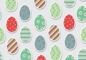 Easter Eggs Pattern Vector
