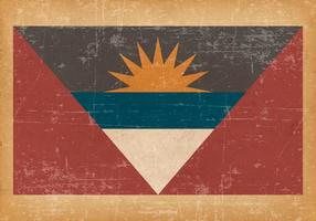 Antigua and Barbuda Flag on Old Grunge Background vector
