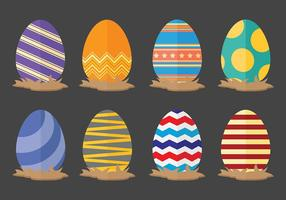 Fun Easter Egg Icons Vector
