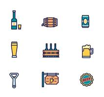Pack of Vector Beer Icons