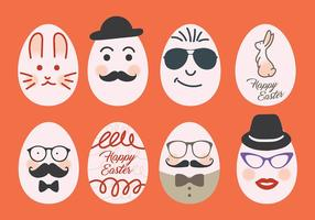 Hipster Icons Vector Easter