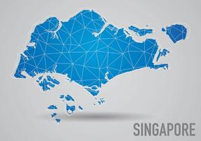 Grid Singapore Maps Background Vector