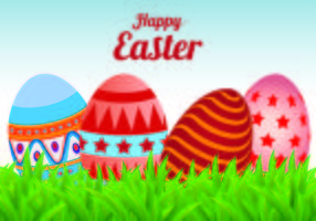 Easter Egg Vector Background