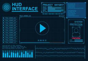 Hud Interface Set vecteur
