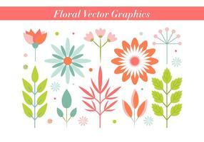 Freier Weinlese-Blumen-Vektor Hintergrund