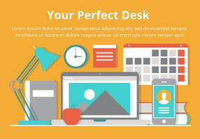 Free Desktop Vector Flat Design Illustration