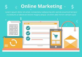 Free Vector Online Marketing Elements