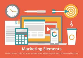 Free Flat Design Vector Marketing Elements
