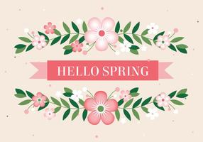 Free Hello Spring Vector Background