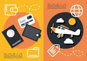Gratis Flat Travel Concept Vector