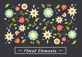 Elementos del vector de flores libre del resorte