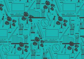 Diversão Office Tools Vector Pattern