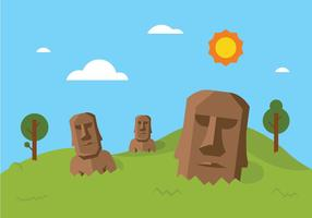 Easter Island Vector Background