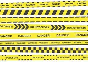 Collezioni di vettore di nastro giallo pericolo
