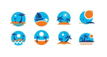 Summer Beach Icon Vectors