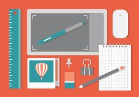 Freier Wohnung Workspace-Vektor Hintergrund