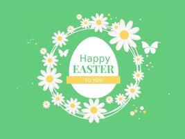 Spring Happy Easter Vector Illustration
