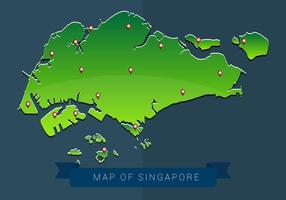 Karta över Singapore Vector Illustration