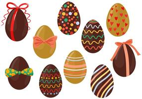 Free Chocolate Eggs Vectors
