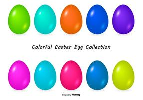 Colorful Easter Egg Collection vector