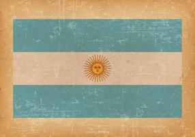 Flag of Argentina on Grunge Background