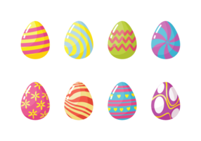 Ovos de Easter Icons Vector